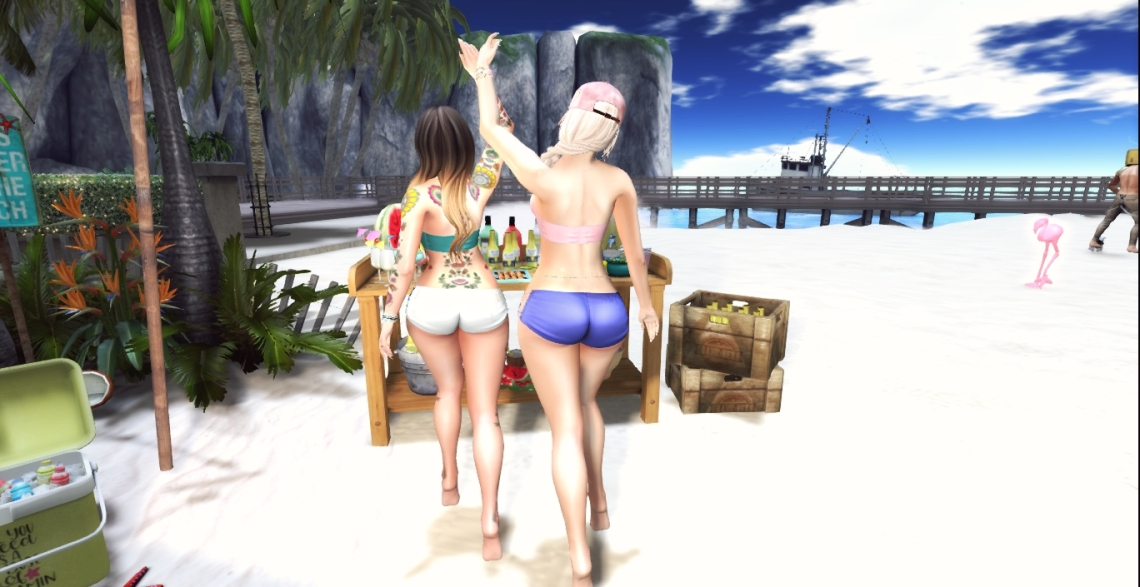 Freya & Pink - Beach Fun 2_001a